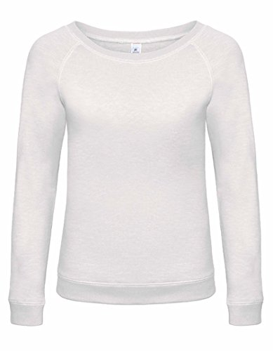 Pullover Femme à grand col rond et Look Vintage Chic White