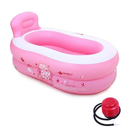 JTYX Baby Dusche Becken Faltbare Dicke Isolierung Home Interior Ultraleicht tragbare Kinder aufblasbaren Pool, Pink,120X68X40CM