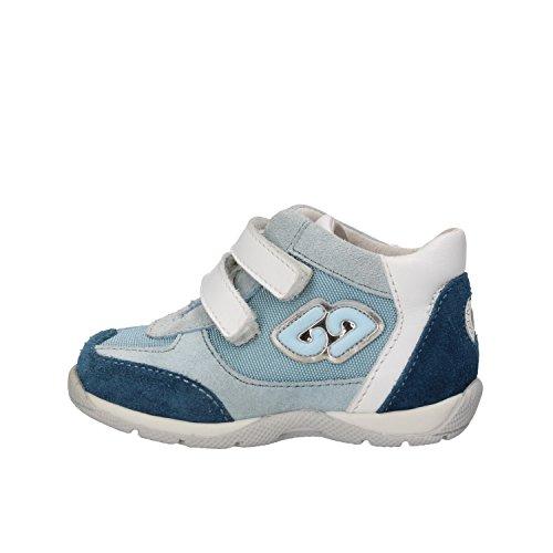 BALDUCCI sneakers bambino 17 EU celeste bianco camoscio tessuto AG933-B