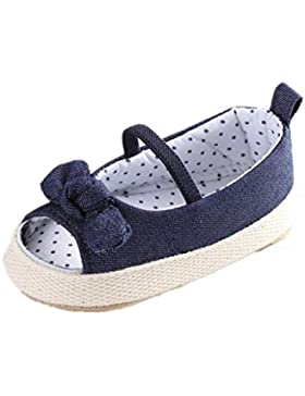 Zapatos para bebé Auxma Algodón único Bowknot linda niña bebé sandalia zapatos Para 3-6 6-12 12-18 mes