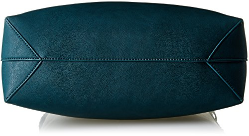 Trussardi Jeans 75B012 Aspen Borsa Tote, 48 cm, Nero Verde