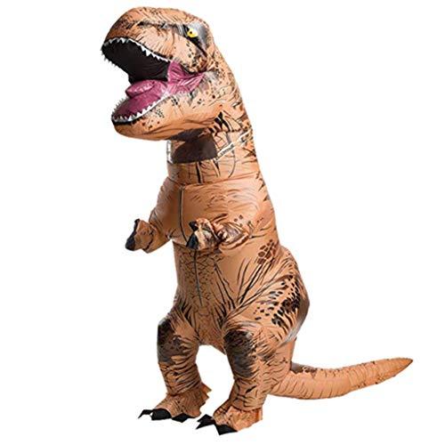 HXYL Halloween Verkleiden Sich Dinosaurier Kostüm, Tyrannosaurus Tyrannosaurus Aufblasbar, Halloween, Weihnachten, Maskerade, Lustig Streich,Yellow