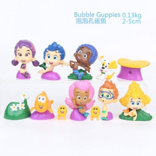 B-Creative 12Pcs/set BUBBLE GUPPIES PVC TOY Cake Topper GIL Molly NONNY Vinyl Action Figure (Nonny Bubble Guppies)