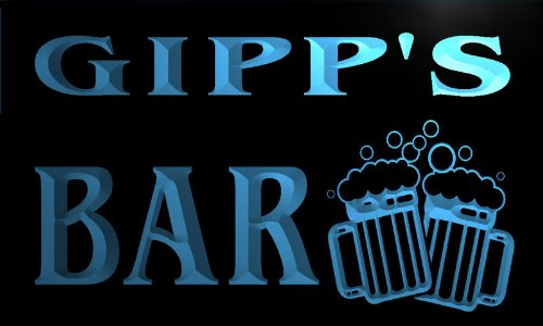 w045248-b GIPP Name Home Bar Pub Beer Mugs Cheers Neon Light Sign Barlicht Neonlicht Lichtwerbung