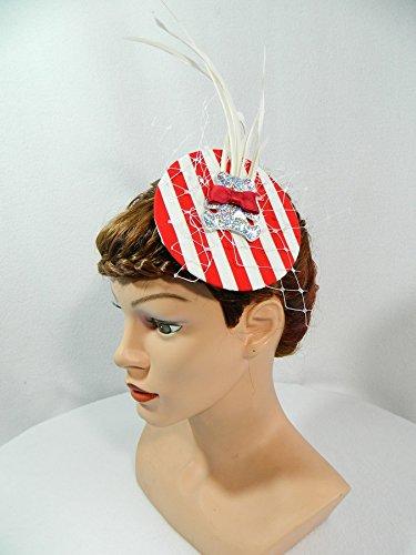 Minihat Rockabilly 20er Flapper Hat Gatspy Karneval ()
