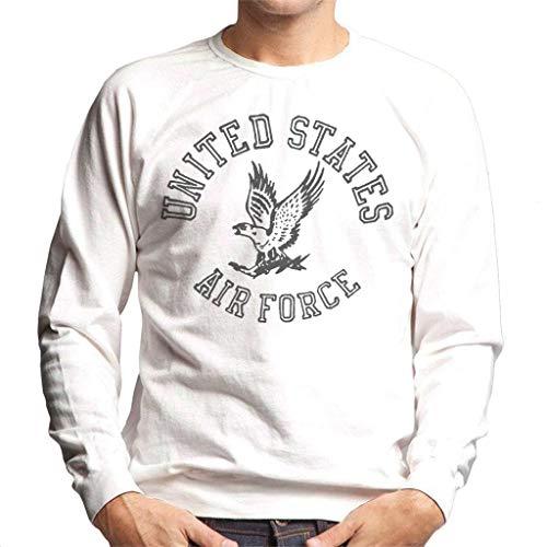 US Airforce Eagle Black Text Men's Sweatshirt Air Force-sweatshirt