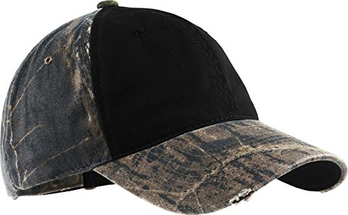 Port Authority Kontrast Front Panel Camo Cap Gr. One size, Mehrfarbig - Mossy Oak New Break-Up/Black