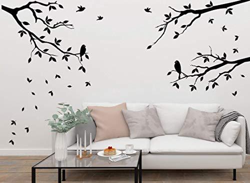 Wandtattoo-Wandaufkleber ***3er Set Äste inkl. Vögel + frei fliegende Blätter im Set ***Größen.- Farb und Ausrichtung frei wählbar! -