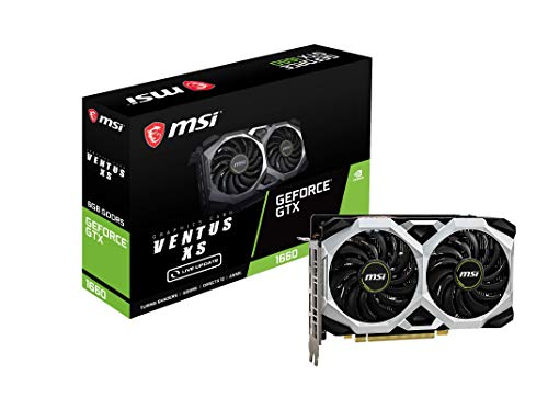 MSI GeForce GTX 1660 VENTUS XS 6G OC (6GB GDDR5/PCI Express 3.0/1830MHz/8000MHz)