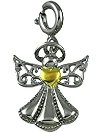 fourseven Pendant/Charm in 925 Sterling Silver | Protect My Heart Angel Charm | for Women & Girls