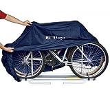 Berger Fahrradhülle Heck 300T, 2 Fahrräder, blau, reißfest und wasserabweisend