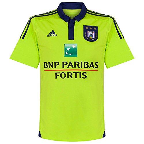Royal Sporting Club Anderlecht 15/16 Away S/S Football Shirt, Größe L, Farbe Lime (L/s Shirt Away)