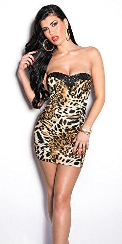Sexy KouCla Bandeau Minikleid gerafft mit Strass Koucla by In-Stylefashion SKU 0000ISF901001 Leo