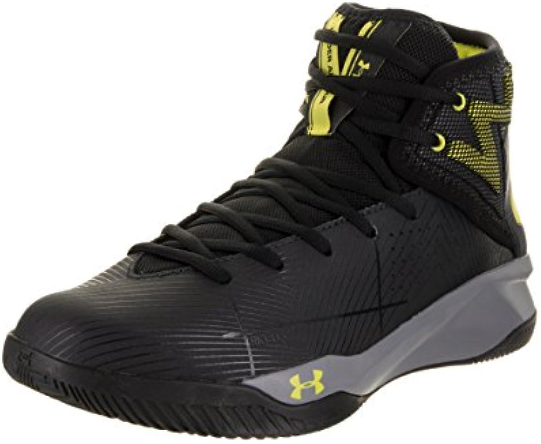 Under Armourua Rocket 2 - Zapatillas de Baloncesto Hombre, Color Negro, Talla 47  -