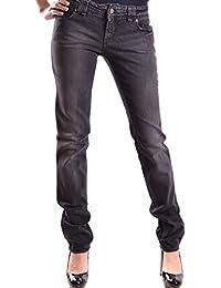 Galliano Damen MCBI130049O Schwarz Baumwolle Jeans