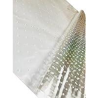 Preisvergleich für inerra 2 Meter x 80cm weißer Punkt Zellophan Film Umhang (gefaltet) - klar mit weißer gepunktet, Pack of 2