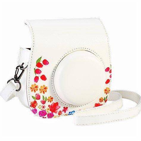 Saika case per fujifilm instax mini 9/8/8 + pellicola istantanea per fotocamera, vintage compact protettiva borsa con tracolla e tasca