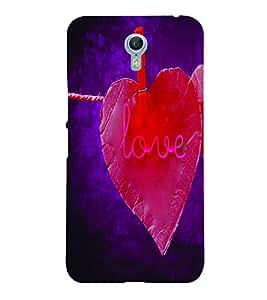 PrintVisa Romantic Love 3D Hard Polycarbonate Designer Back Case Cover for LENOVO ZUK Z2 PRO