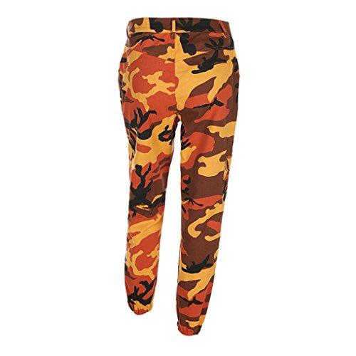 Camo Jeans Frauen (Damenbekleidung Damenhosen Sporthosen hosen JYJM Frau Tarnung gedruckt Jeans Harem Hosen Frauen Sport Camo Cargo Hosen Outdoor Casual Camouflage Hosen Jeans (L, Rosa))