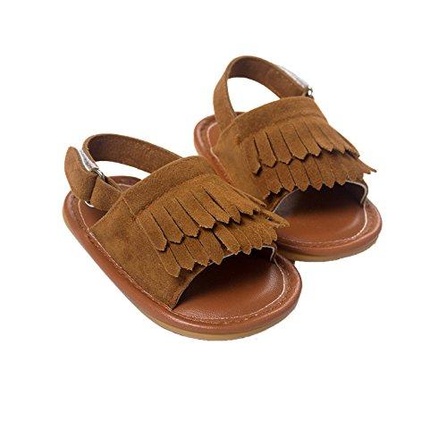 Nicetage Süß Mädchen Schuhe Laufternshuhe Krabbelschuhe für 0-18 Monate Baby Neugeborenen Schuhe Braun