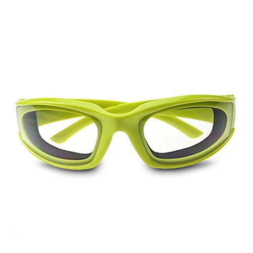 FANYI Onion Goggles Tear Resistant Airtight Technology Slicing Kitchen Cutting Chopping Mincing Eye Protect kitchen Durable Windproof Dustproof Eyes Protector Foam Seal Inside (Green) by FANYI Slicing-tool