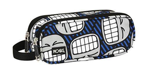 MOOS – Portatodo Doble con diseño Smile, 21 x 8 cm (SAFTA 841546513)