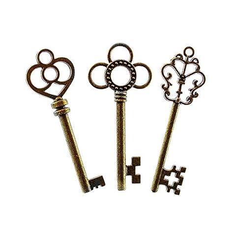 Zhichengbosi Mixed Set of 30 Large Skeleton Keys in Antique