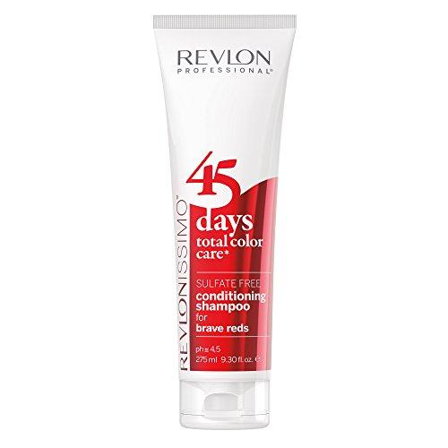 REVLON PROFESSIONAL  45 Days Conditioning Shampoo,Brave Reds , 1er Pack (1 x 275 ml) -