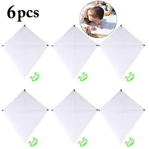Joyibay 6pcs aquilone fai da te per bambini aquilone volante creativo in bianco con girella e linea