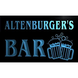w064009-b ALTENBURGER Name Home Bar Pub Beer Mugs Cheers Neon Light Sign