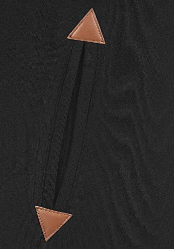DESIRES Vicky Pile Straight Zip Damen Lange Sweatjacke Cardigan Sweatshirtjacke Mit Teddy-Futter Und Kapuze, Größe:XS, Farbe:Black PIL (P9000) - 4