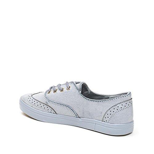 Ideal Shoes, Damen Sneaker Blau