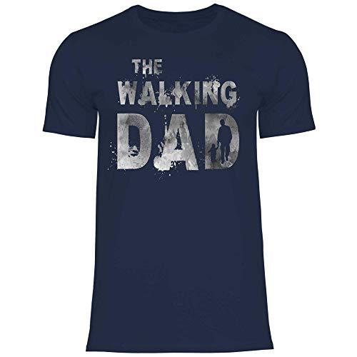 Royal Shirt Herren T-Shirt Der Papa Zombie grau, Größe:XXL, Farbe:Navy