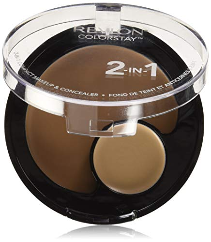 Revlon Colorstay 2-in-1Compact fondotinta e correttore, Sand Beige