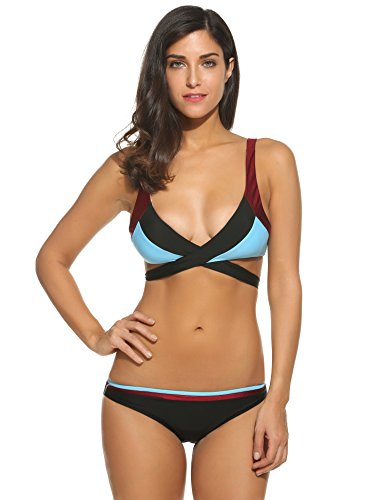 Avidlove Sexy Damen Triangel Bikini Sets Push-Up Sport Bademode Badeanzüge Tankini Beachwear Top & Hose (Triangel-bikini-top Sport)