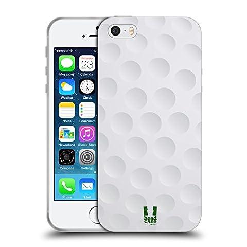 Head Case Designs Golf Collections Boules Étui Coque en Gel molle pour Apple iPhone 5 / 5s / SE
