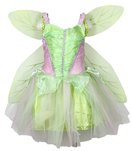 Petitebelle Green Fairy Costume Wing Set Party Dress for Girl Clothing 2-8year ()