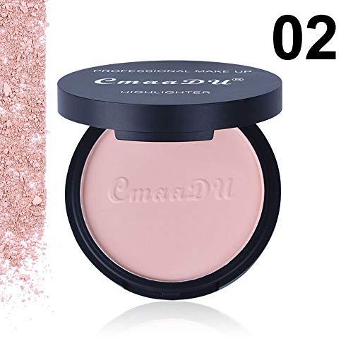 Amuster_ Liquide Couverture Palette de Maquillage Poudre Compacte Poudre Pressée Fonds de Teint Naturelle Make Up Palette Professionnel Beauté Cosmétique Set