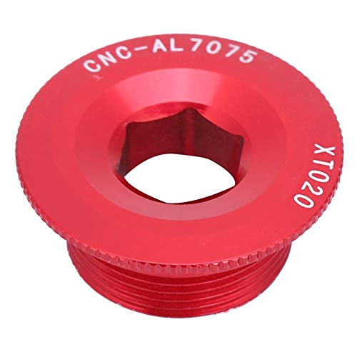 VGEBY1 10 Pcs Tornillo de biela, M20 Perno Cigüeñal Hueco Fijación Brazo de Biela, Tapa de Soporte de Perno de fijación del Brazo de biela de aleación de Aluminio para Bicicleta de Carretera(Rojo)