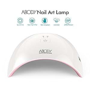 Abody Sèche-ongles Lampe UV LED Ongle Professionnel SUN9C 24W Portable Séchoirs à Ongles Lumière Blanche Lampe à Polymériser Nail Art