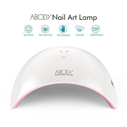 Abody Sèche-ongles Lampe UV LED Ongle Professionnel SUN9C 24W Portable Séchoirs à Ongles Lumière Blanche Lampe à Polymériser...