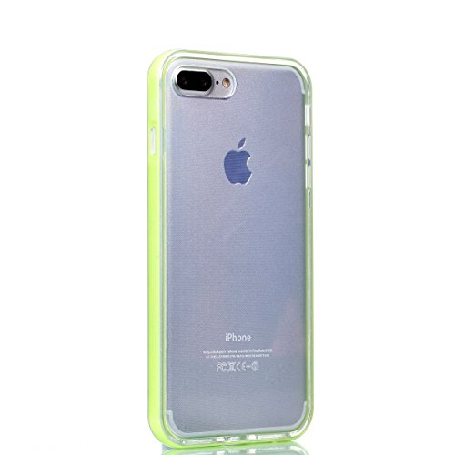 iPhone 7 Plus hülle Case Cozy Hut Ultra Hybrid TPU Bumper for iPhone 7 Plus Hülle Schutzhülle Shock Absorption Plating TPU Case Silicone Cover für iPhone 7 Plus (5,5 Zoll) (2016) - Lotus gelb