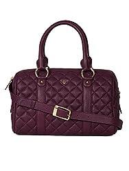 Da Milano LB-7048 Purple Leather Handbag