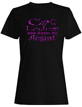 Cat Ladies nacen en agosto camiseta de las mujeres aa55f