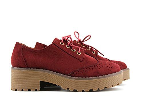 Modelisa, Zapatos Rojos Con Cordones De Mujer