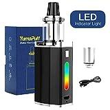 Cigarettes électroniques Yumapuff 50W ROBIN Kit Complet Box, Recharge 1500mAh Vape Box Mod Cig, Atomiseur 2.0ml sans Nicotine, No E Liquide (Noir)