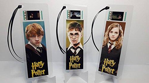 Harry Potter-3Lesezeichen-Set-Film Memorabilia Film Cell Lesezeichen (Harry-potter-film Zelle Lesezeichen)