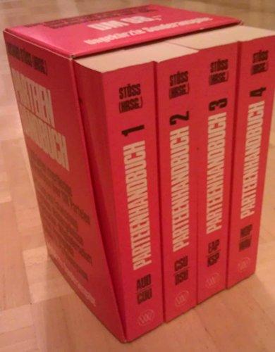 Csu Dsu (Parteienhandbuch - Die Parteien der Bundesrepublik Deutschland 1945-1980 - 4 Bände: Bd. 1: AUD-CDU; Bd. 2: CSU-DSU; Bd. 3: EAP-KSP; Bd. 4: NDP-WAV)