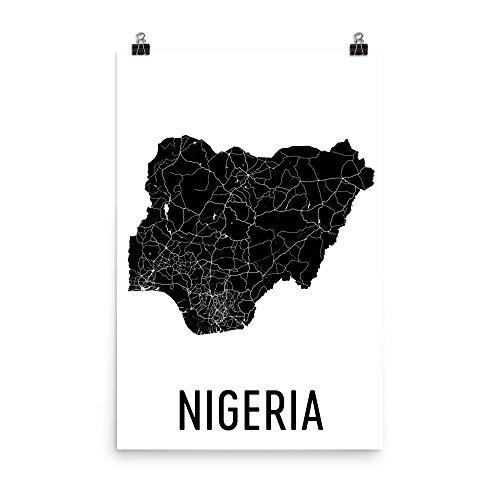 Nigeria von Editors Choice hochwertiger Kunstdruck neues Kunstposter Poster 30 x 30 cm