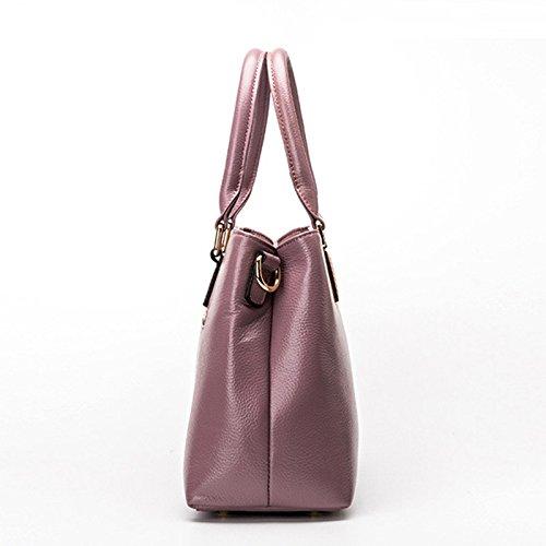 Mefly L Europa e gli Stati Uniti Borse Moda Litchi singola spalla Spalla obliquo grigio elefante Purple taro